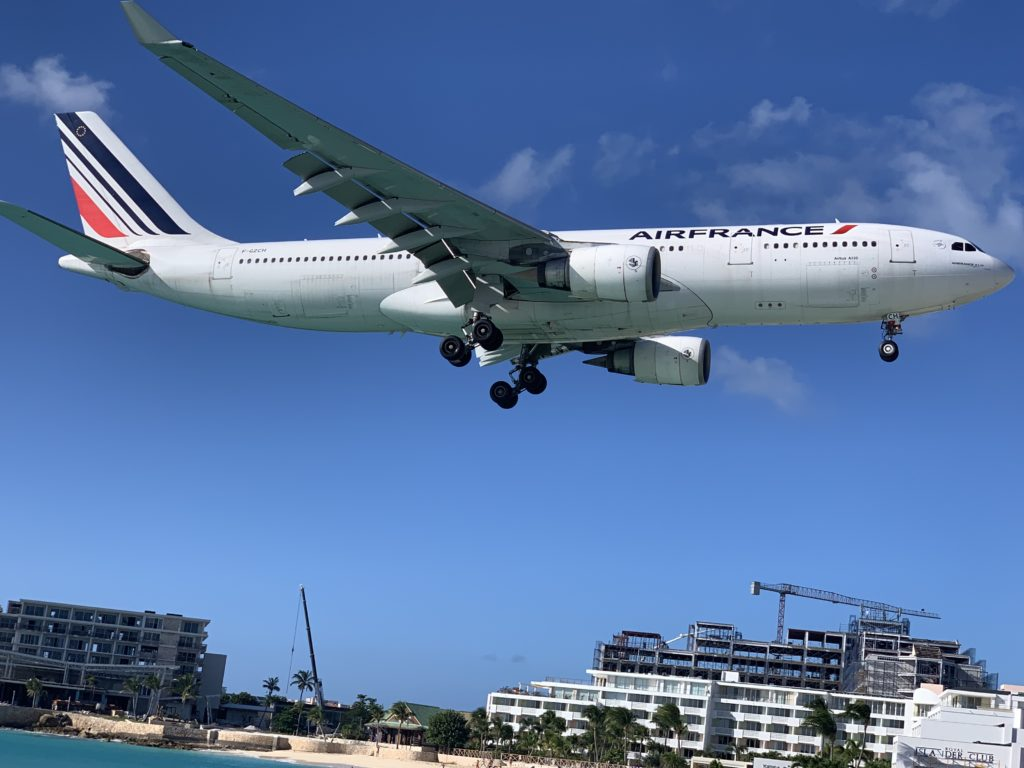 Air France Landung auf St. Maarten