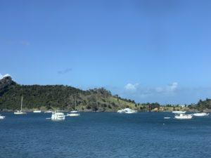 Blick vom Hafen in St. Maarten