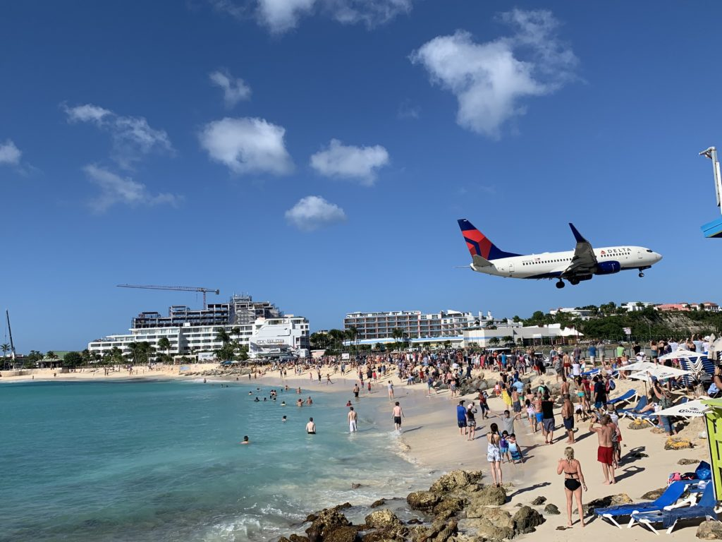 Maho Beach auf St. Maarten